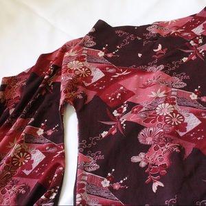 Tops - Kimono Style Pink Winged Arm Beautiful Blouse